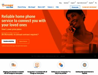 phone.vonage.com screenshot