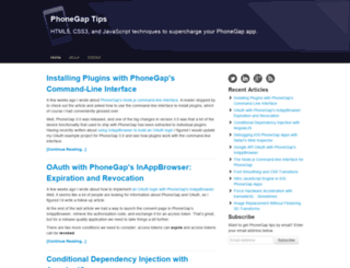 phonegap-tips.com screenshot