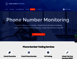 phonenumbermonitoring.com screenshot