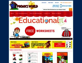 phonicsworld.com screenshot