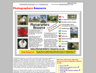 photographers-resource.co.uk screenshot