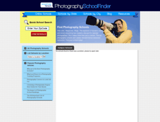 photographyschoolfinder.com screenshot
