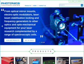 photonicstechnologies.com screenshot