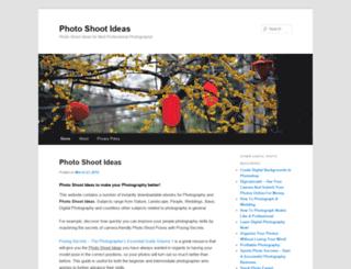 photoshootideas.com screenshot