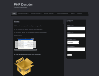 phpdecoder.wordpress.com screenshot