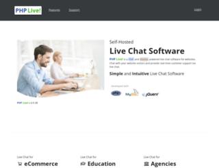 phplivesupport.com screenshot