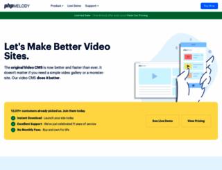 phpmelody.com screenshot