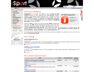 phpmysport.sourceforge.net screenshot