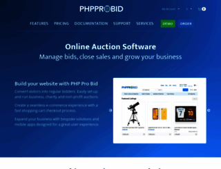 phpprobid.com screenshot