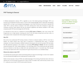 phptraininginchennai.in screenshot
