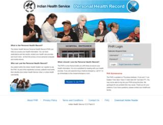 phr.ihs.gov screenshot