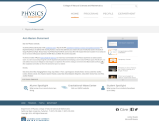 physics.fullerton.edu screenshot