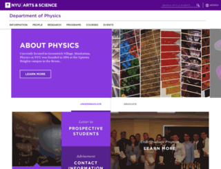 physics.nyu.edu screenshot