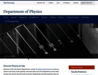 physics.yale.edu screenshot