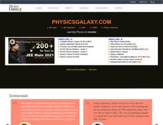 physicsgalaxy.com screenshot