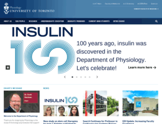 physiology.utoronto.ca screenshot