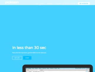pickasin.com screenshot