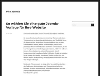 pickjoomla.com screenshot