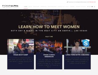 pickupalpha.com screenshot