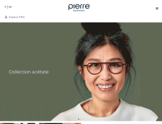 pierre-eyewear.com screenshot