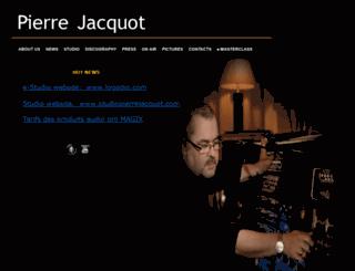 pierrejacquot.com screenshot