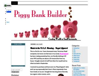 piggybankbuilder.com screenshot