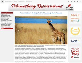 pilanesbergaccommodation.com screenshot