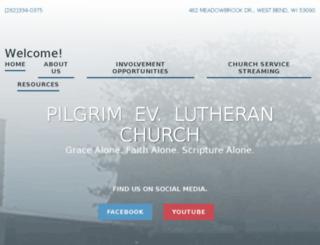 pilgrimlutheran-westbend.org screenshot