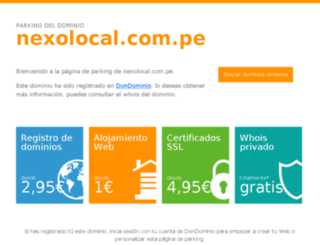 pimentel.nexolocal.com.pe screenshot