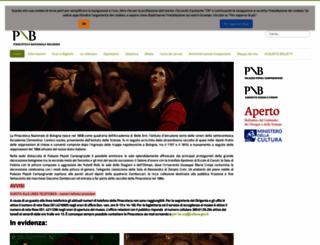 pinacotecabologna.beniculturali.it screenshot