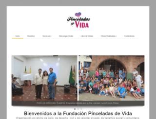 pinceladasdevida.org screenshot