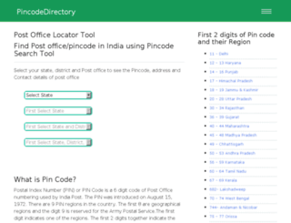 pincodedirectory.net screenshot