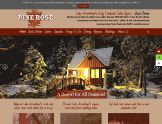 pinerose.com screenshot