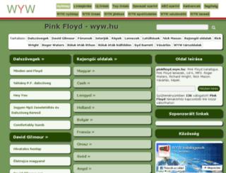 pinkfloyd.wyw.hu screenshot
