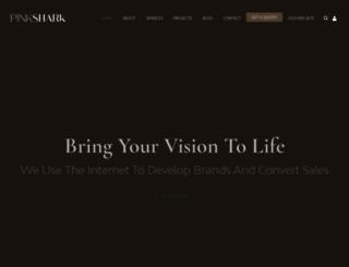 pinksharkmarketing.com screenshot