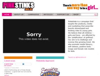 pinkstinks.co.uk screenshot