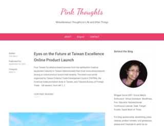 pinkthoughts.com screenshot