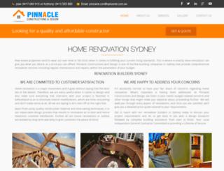 pinnacleconstructionsanddesign.com.au screenshot