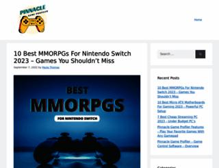 pinnaclegameprofiler.com screenshot
