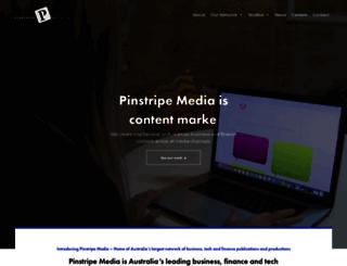 pinstripemedia.com.au screenshot