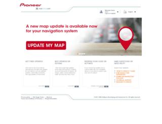 pioneer.naviextras.com screenshot