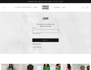 pioneerapparel.com screenshot