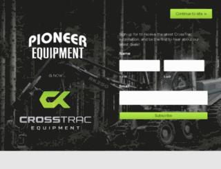 pioneerforestryequipment.com screenshot