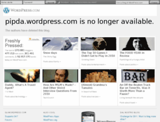 pipda.wordpress.com screenshot