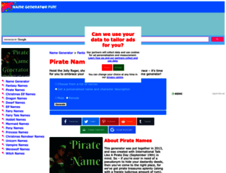 pirate.namegeneratorfun.com screenshot