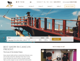 pirateshowcancun.com screenshot