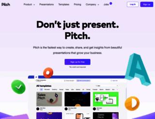 pitch.com screenshot