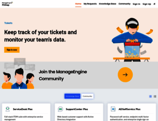pitstop.manageengine.com screenshot