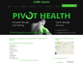 pivothealth.com.au screenshot