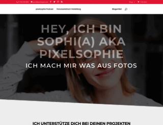 pixelsophie.de screenshot